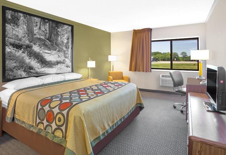 Super 8 by Wyndham Windsor/Madison North, Windsor, Habitación, 1 cama King size, con acceso para silla de ruedas, para no fumadores, Habitación