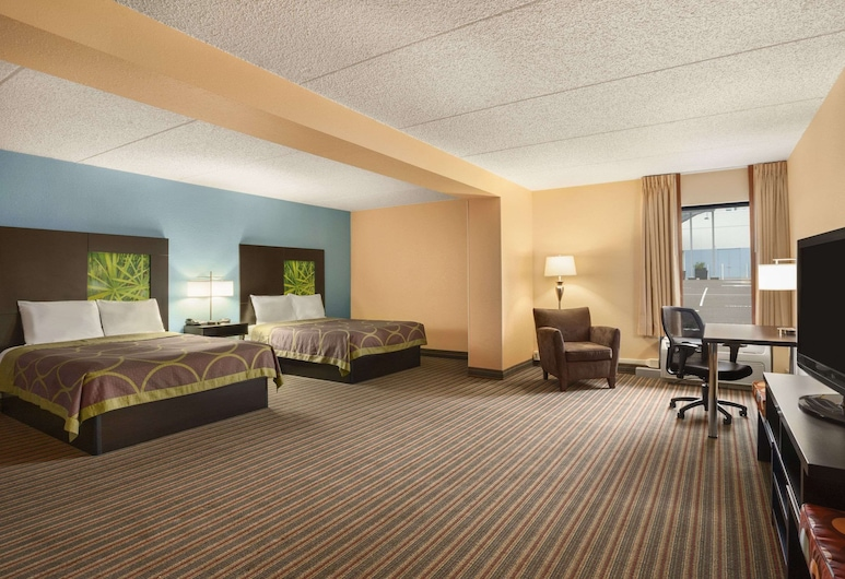 Super 8 by Wyndham Mount Laurel, Mount Laurel, Apartament typu Studio, 2 łóżka queen, dla niepalących, Pokój