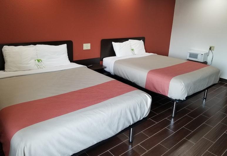 Motel 6 Franklin, IN, Franklin, Pokój Deluxe, 2 łóżka queen, dla niepalących, lodówka i kuchenka mikrofalowa, Pokój