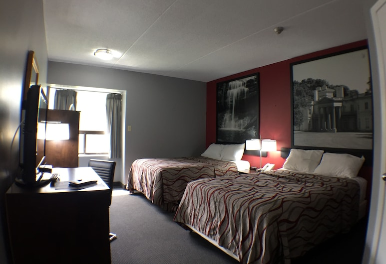Super 8 by Wyndham Mt Hope Hamilton Intl Arpt ON, Hamilton, Double Room, 2 Double Beds, Guest Room
