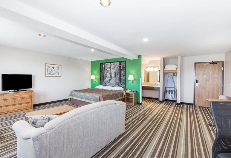Super 8 by Wyndham Sioux City South, Sioux City, Suite estudio, 1 cama King size, para no fumadores, Habitación
