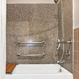 Room, 1 Double Bed, Accessible, Non Smoking (Mobility/Hearing, Tub w/Grab Bars) - Bathroom