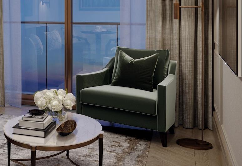 The Carlton Tower Jumeirah, Londres, Suite Deluxe, balcón (Garden), Sala de estar