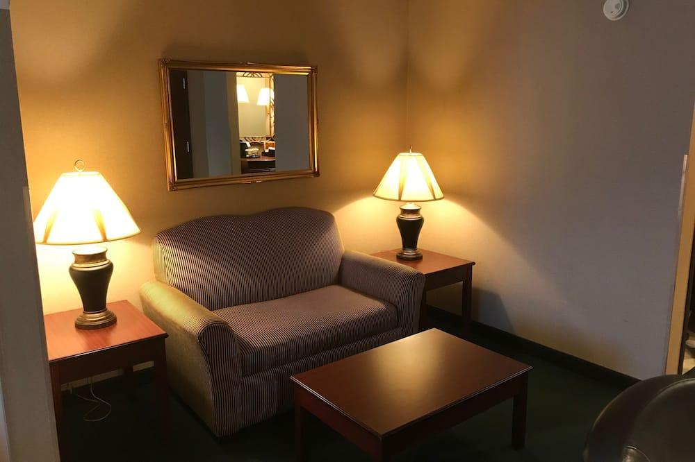 Apartmá, dvojlůžko (200 cm), nekuřácký - Obývací prostor