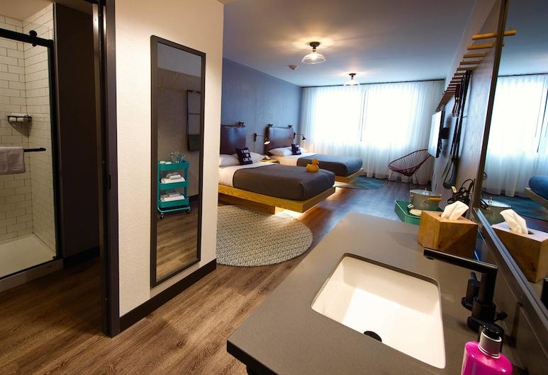 萬豪莫克西新奧爾良市中心法國區酒店, 新奥爾良, 客房, 2 張加大雙人床, 非吸煙房, 客房