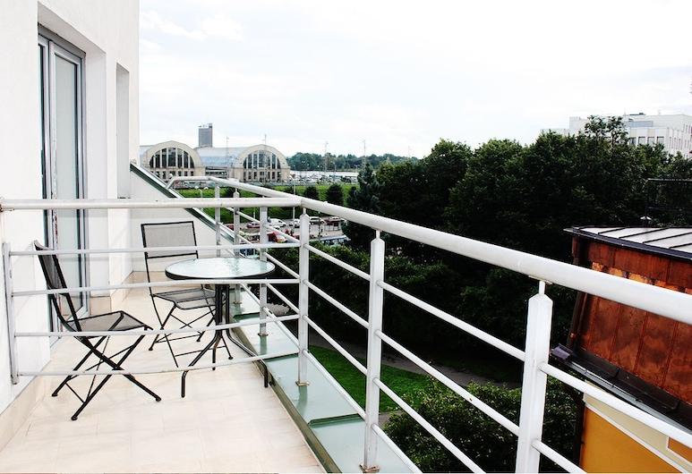 論壇精品飯店, 里加, 高級客房, 1 張加大雙人床, 陽台