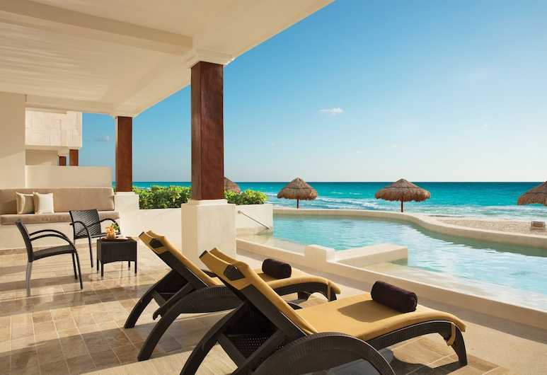 Now Sapphire Riviera Cancun, Puerto Morelos, Preferred Club Master Suite Beach Front Swim Out King, Terrace/Patio