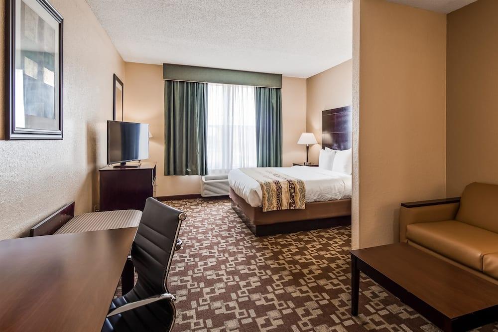 Suite, 1 très grand lit, non-fumeurs, réfrigérateur et four à micro-ondes (42 IN LCD TV) - Chambre