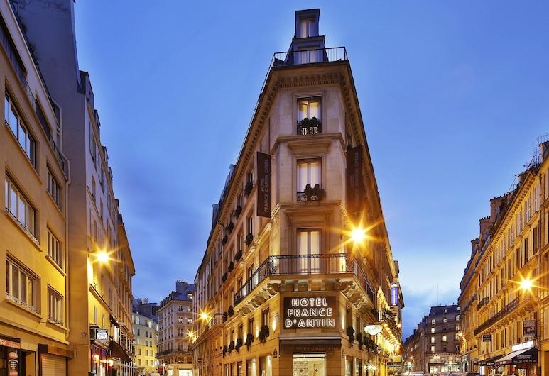 Hotel France d'Antin Opéra, Parijs, Voorkant hotel - avond/nacht