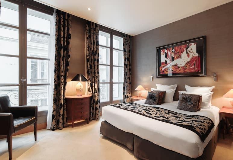 Hotel Pas De Calais, Париж, Двухместный номер «Делюкс» с 1 двуспальной кроватью, Номер