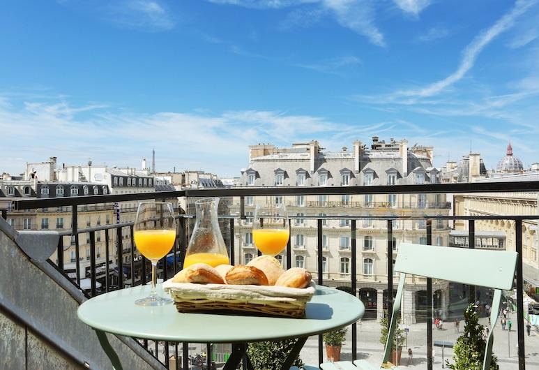 Le Grand Hotel de Normandie, Paris, Chambre Supérieure, 1 lit double, balcon, Chambre