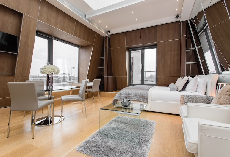 The Harrington, London, Executive-Penthouse, 1 Doppelbett, Küche, Wohnbereich