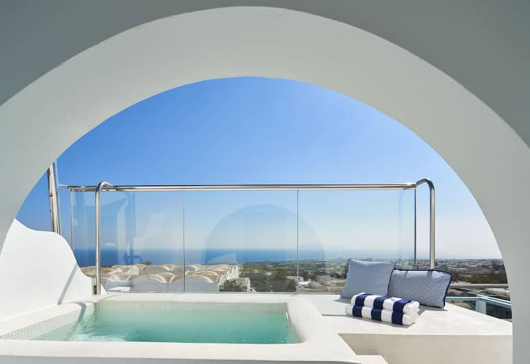 Aressana Spa Hotel and Suites, Santorini, Suite, Jetted Tub, Sea View, Guest Room View