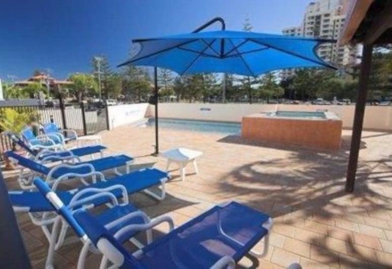 Barbados Holiday Apartments, Broadbeach, Zwembad