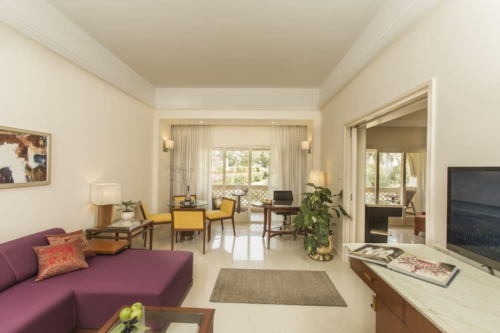 Apartmán typu Premium, 1 spálňa, výhľad na záhradu (Temptation) - Obývacie priestory
