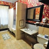 Double Room with One Double Bed and Private Detached Bath @ 1087 Beacon St. - Bathroom