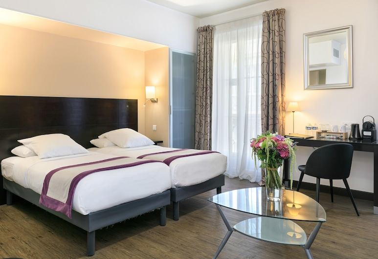 尼斯佛羅倫斯酒店, 尼斯, 普通套房, 1 張加大雙人床及 1 張梳化床, 客房景觀