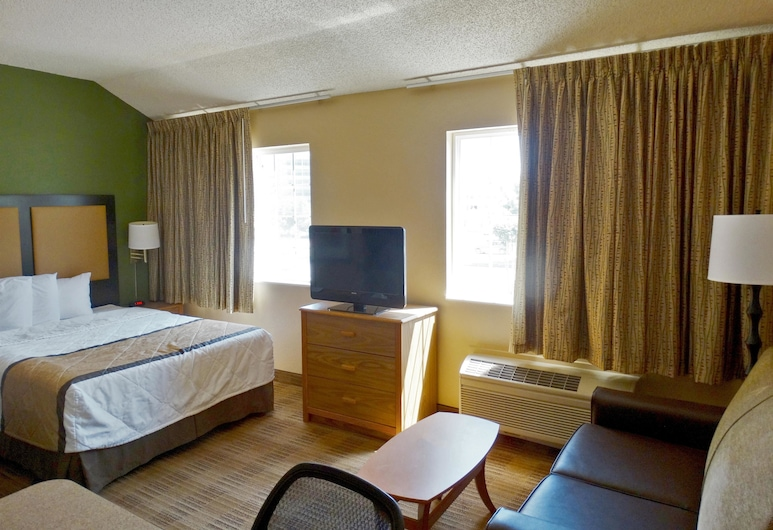 Extended Stay America - Kansas City -Airport-Tiffany Springs, Kansas City, Studio, 1 grand lit, non-fumeurs, Chambre