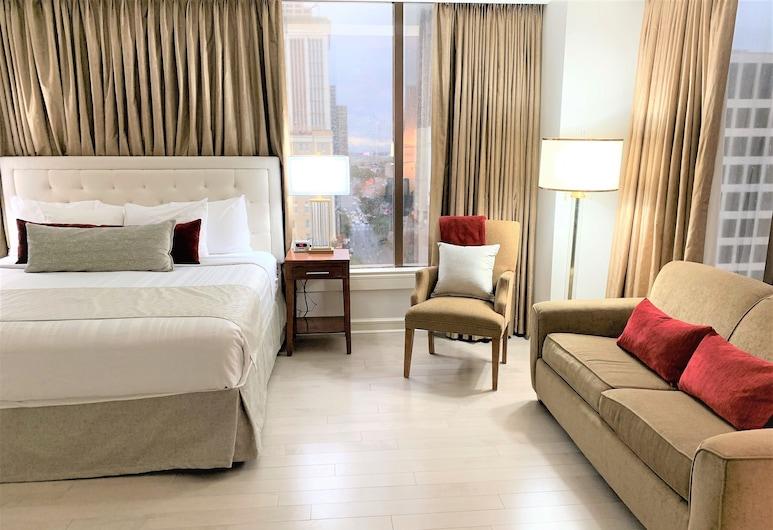 貝斯特韋斯特頂級精選新奥爾良布萊克酒店, 新奥爾良, 套房, 1 張特大雙人床及 1 張梳化床, 非吸煙房, 城市景 (with Sofabed), 客房