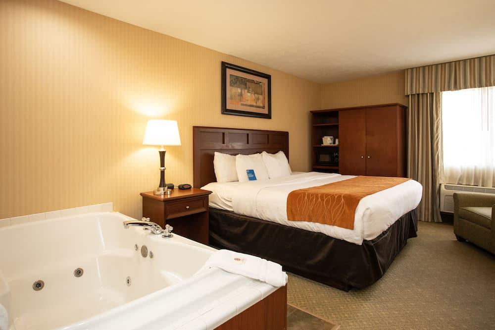標準客房, 1 張特大雙人床, 非吸煙房 - 私人 SPA 浴缸