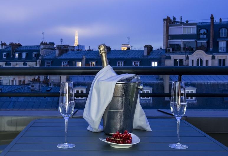 安培酒店, 巴黎, 全景套房, 露台 (Eiffel Tower view), 陽台