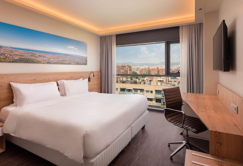 Four Points By Sheraton Barcelona Diagonal, Barcelona, Pokój Premium, Łóżko king, dla niepalących, Widok, Widok z pokoju