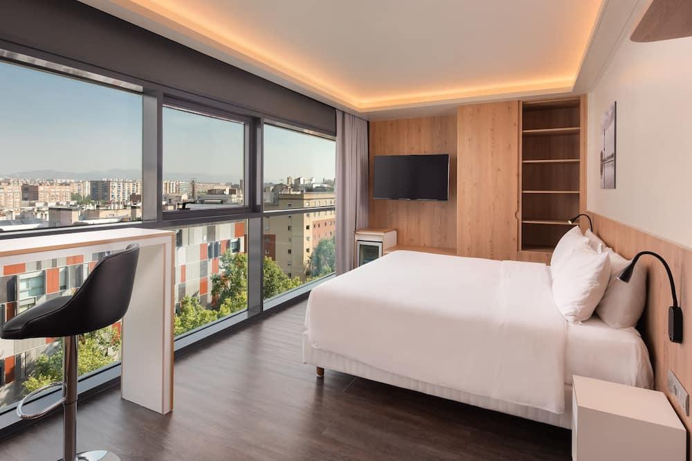 Chambre Exécutive, 1 très grand lit, avec vue, en angle - Chambre