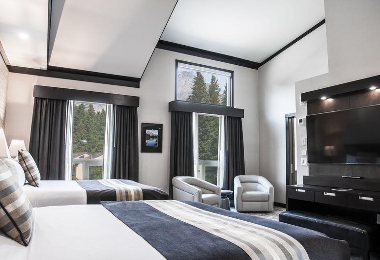 Charltons Banff, Banff, Habitación Deluxe, 2 camas Queen size, vista a la montaña, Vista de la habitación