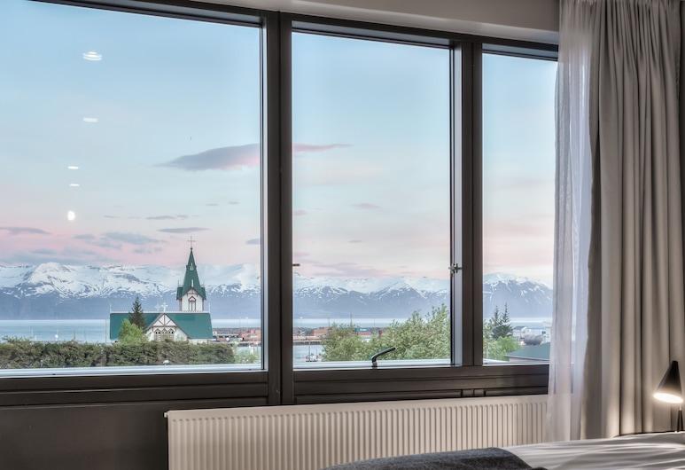 Fosshotel Husavik, Husavik, Habitación Deluxe con 1 cama doble o 2 individuales, Vista desde el hotel