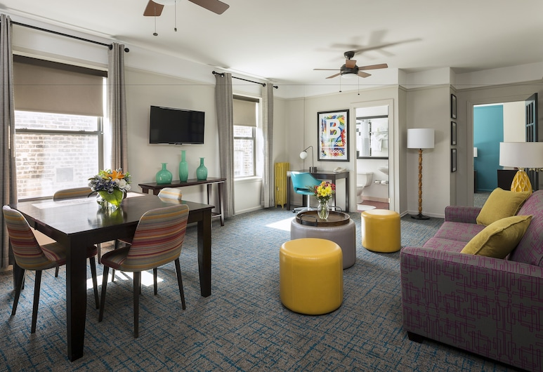 City Suites Hotel, Chicago, Living Room