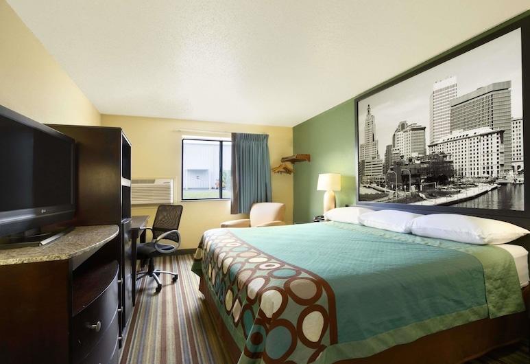 Super 8 by Wyndham Huntsville Alabama, Huntsville, Standard Room, 1 Queen Bed, Non Smoking, Guest Room