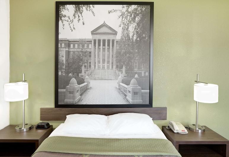 Super 8 by Wyndham Lafayette, לפאייט, חדר זוגי, חדר אורחים