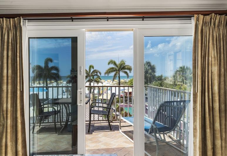 Plaza Beach Hotel Beachfront Resort, St. Pete Beach, Suite, 1King-Bett und Schlafsofa, Balkon (Gulf Front View), Blick vom Balkon