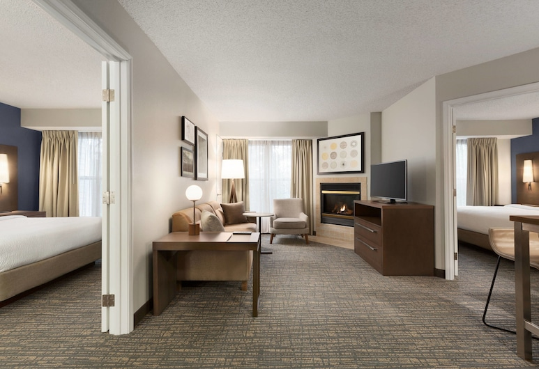 Residence Inn by Marriott Houston The Woodlands/Market Street, The Woodlands, Suite, 2 chambres, non-fumeurs, cheminée, Chambre