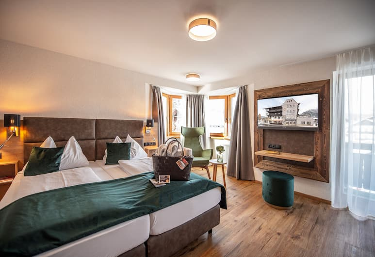Bergland Hotel, Seefeld au Tyrol, Chambre Double Confort, 1 lit double, Chambre