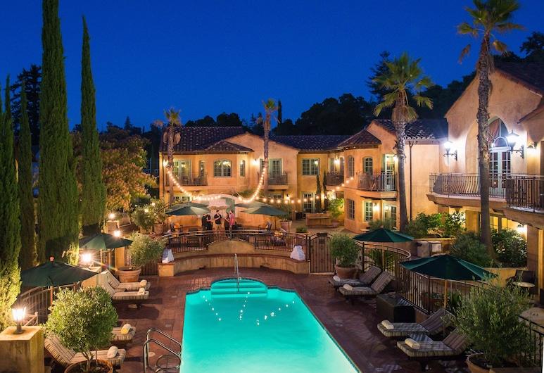 Hotel Los Gatos - A Greystone Hotel, Los Gatos, Ištaigingo stiliaus numeris, 1 labai didelė dvigulė lova ir sofa-lova, Vaizdas iš balkono