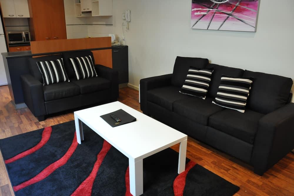 Apartmán, 1 ložnice, kuchyně - Obývací pokoj