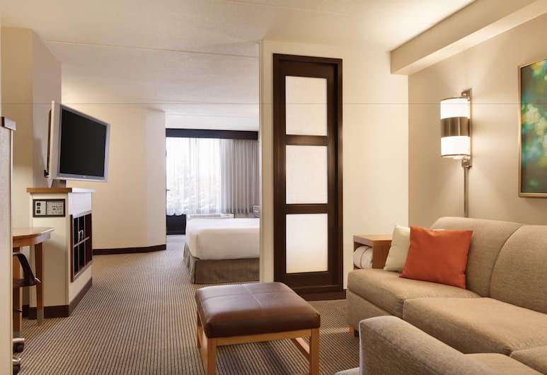 Hyatt Place Fremont/Silicon Valley, Fremont, Chambre, 1 très grand lit, accessible aux personnes à mobilité réduite, baignoire, Chambre