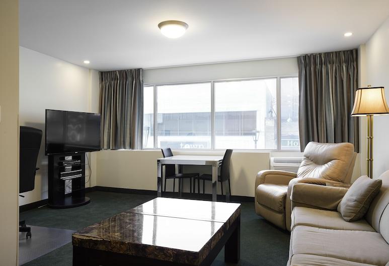 The Business Inn, Оттава, Представительский люкс, 1 двуспальная кровать «Кинг-сайз» с диваном-кроватью, Зона гостиной