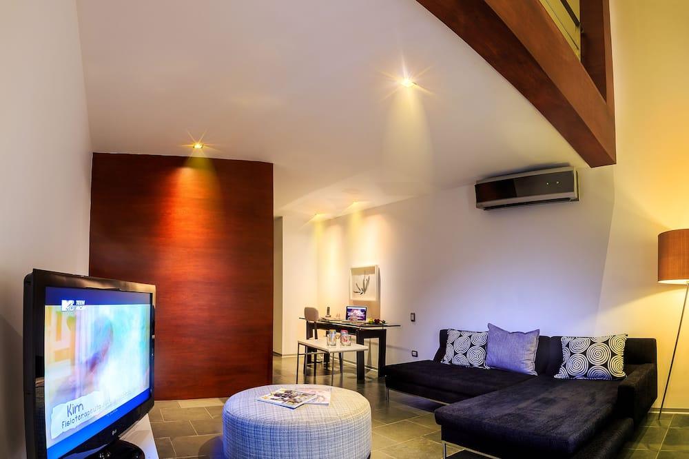 Loft, wysokie piętro - Powierzchnia mieszkalna