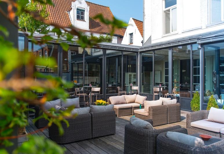 Hotel Montanus, Brugge, Terrasse/veranda