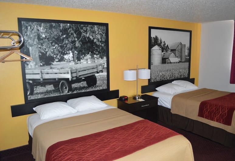 Super 8 by Wyndham Ames, Эймс, Двухместный номер с 1 двуспальной кроватью, 2 двуспальные кровати, для курящих, Номер