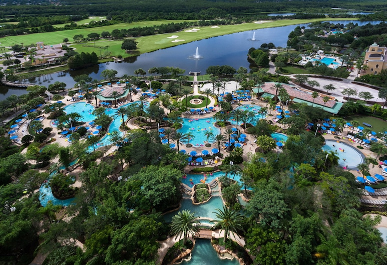 JW Marriott Orlando Grande Lakes, Orlando, Room, 1 King Bed (Lakefront), Guest Room View