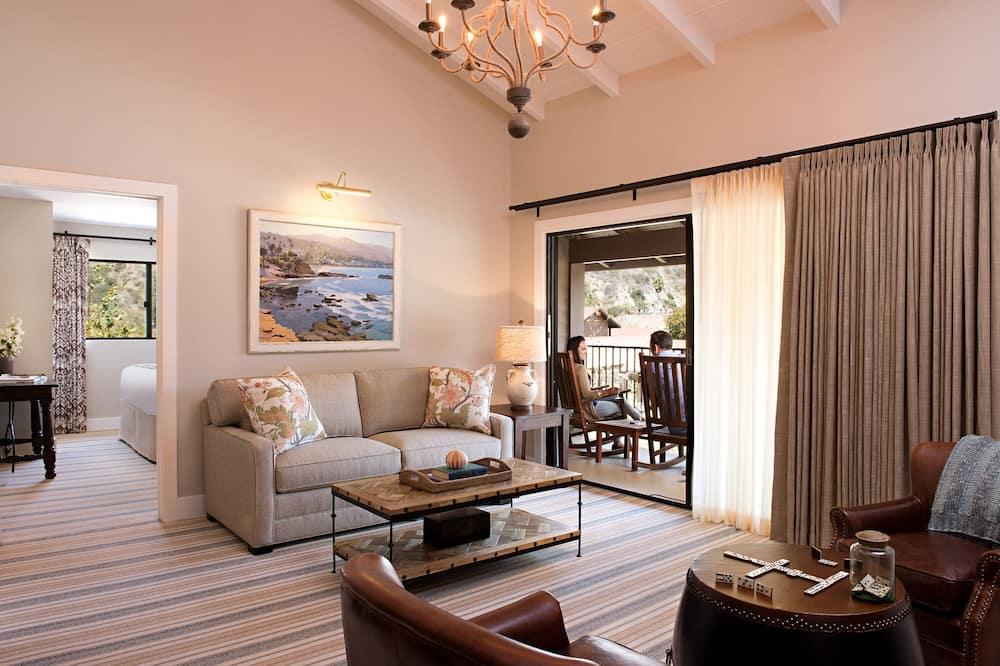 Luksusa numurs, 1 divguļamā karaļa gulta un dīvāngulta (Creekside One Bedroom Suite) - Dzīvojamā zona