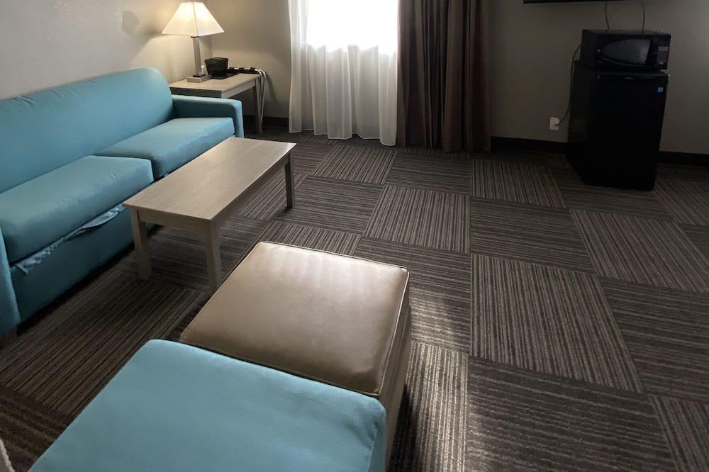 Одноместный номер, 2 двуспальные кровати, для некурящих - Зона гостиной