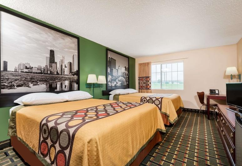Super 8 by Wyndham Mt. Carmel IL, Mount Carmel, Pokój, 2 łóżka queen, dla niepalących, Pokój