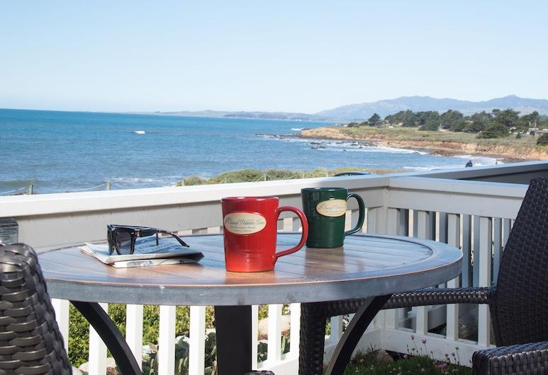 砂卵石旅館, 坎布里亞, 客房, 1 張特大雙人床, 露台, 海景, 客房