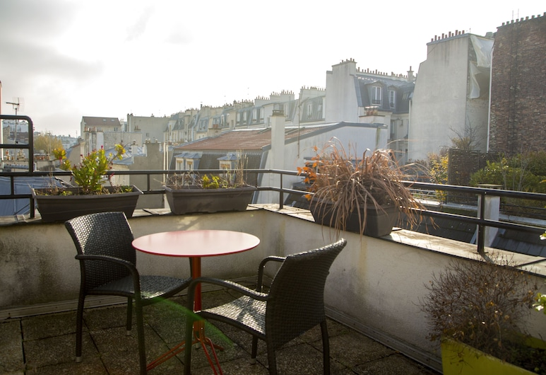 le 55 Montparnasse Hôtel, Paris, Deluxe-rum - terrass, Gästrum