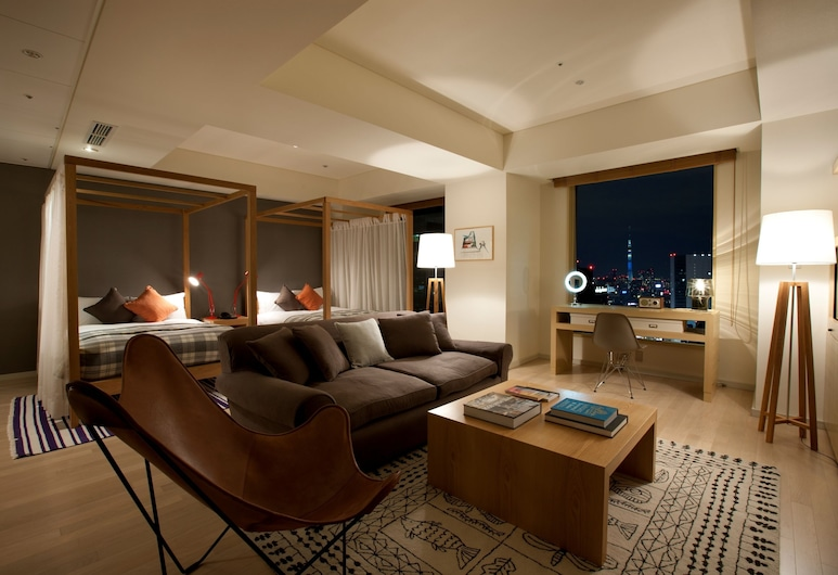 The Royal Park Hotel Iconic Tokyo Shiodome, Tokyo, Suite Junior (Suite, Coordinated by THE CONRAN SHOP), Area soggiorno