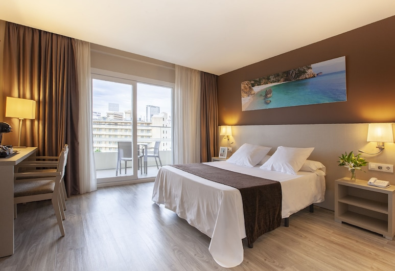 Hotel Helios Benidorm, Benidorm, Premium tweepersoonskamer, Balkon, uitzicht op zwembad, Kamer